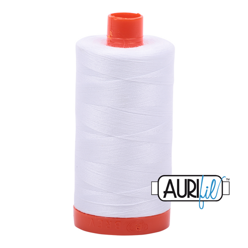 Aurifil Thread 2024 WHITE 50wt