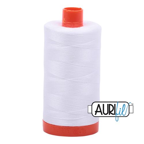 Aurifil Thread 2024 WHITE 50wt