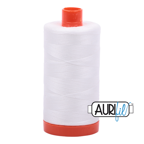 Aurifil Thread 2021 NATURAL WHITE 50wt