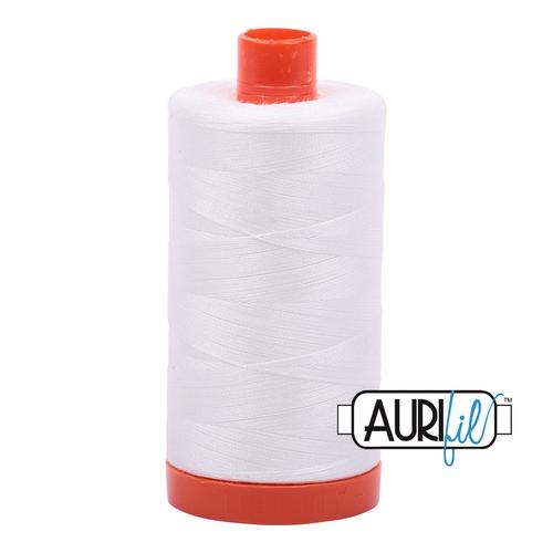 Aurifil Thread 2021 NATURAL WHITE 50wt