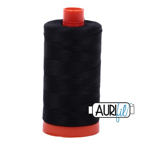 Aurifil Thread 2692 BLACK 50wt