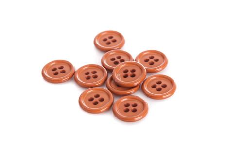 Brown Shirt Button - 15mm