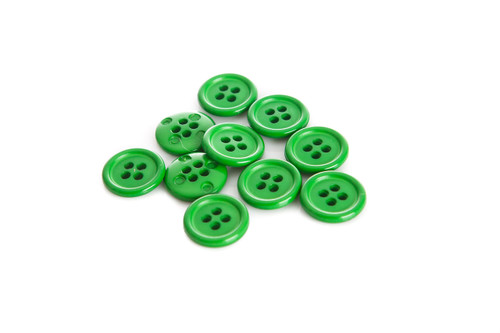 Green Shirt Button - 15mm