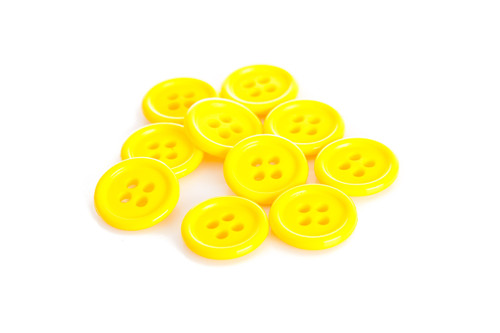 Yellow Shirt Button - 15mm