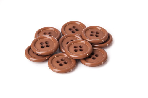 Caffelatte Shirt Button - 20mm