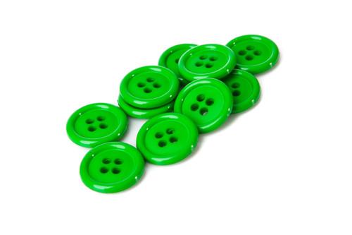Green Shirt Button - 20mm