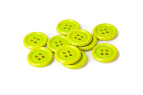 Lime Green Shirt Button - 20mm