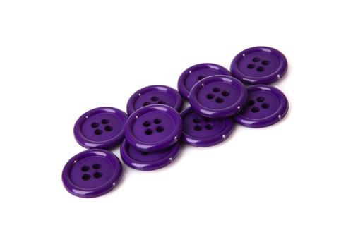 Purple Shirt Button - 20mm