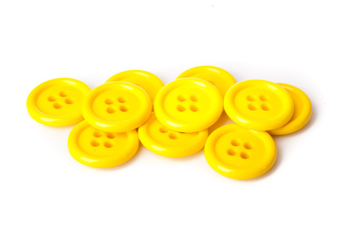 Yellow Shirt Button - 20mm