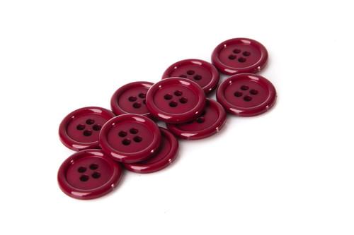 Burgandy Shirt Button - 20mm