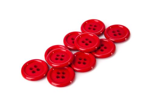 Dark Red Shirt Button - 20mm