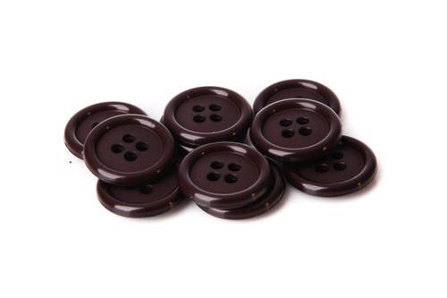 Chocolate Shirt Button - 20mm
