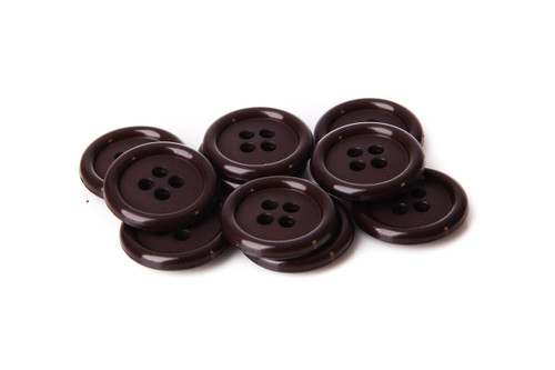 Chocolate Shirt Button - 20mm