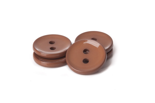 Brown Shiny 2 Hole Button - 34mm