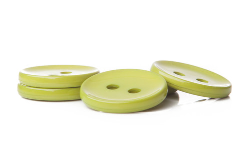 Pear Shiny 2 Hole Button - 34mm