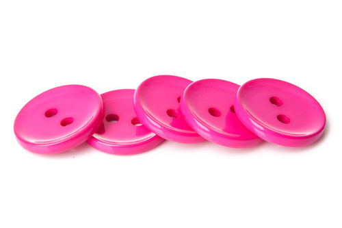 Fuchsia Shiny 2 Hole Button - 34mm