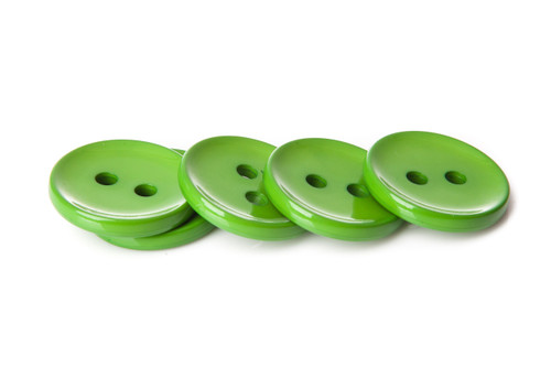 Green Shiny 2 Hole Button - 34mm