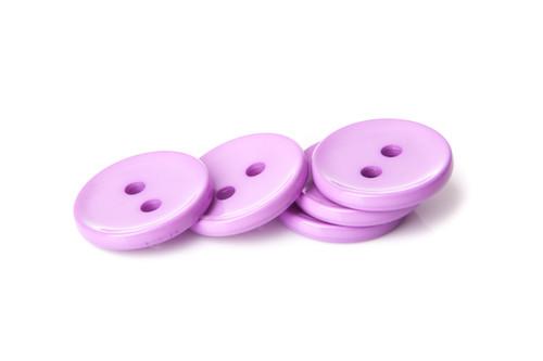 Lilac Shiny 2 Hole Button - 34mm