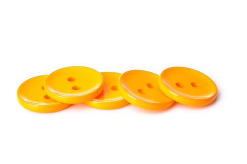 Orange Shiny 2 Hole Button - 34mm