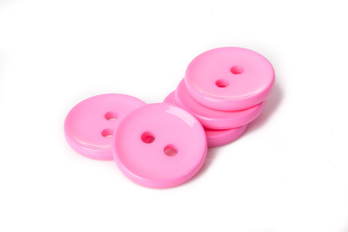 Pink Shiny 2 Hole Button - 34mm
