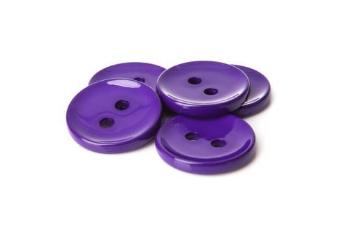 Purple Shiny 2 Hole Button - 34mm