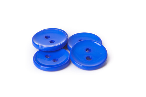 Royal Blue Shiny 2 Hole Button - 34mm