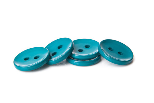 Emerald Shiny 2 Hole Button - 34mm