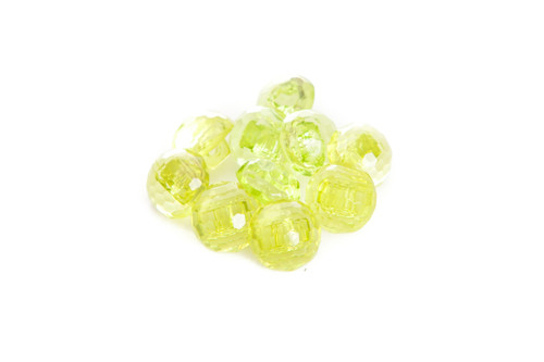 Lime Green Shiny Clear Diamond Effect Shanked Button - 15mm