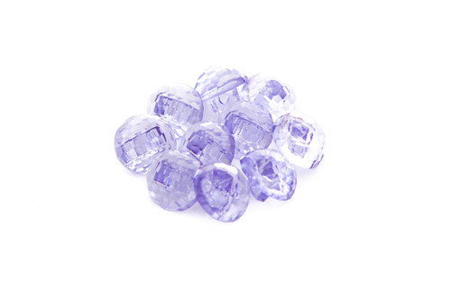 Lilac Shiny Clear Diamond Effect Shanked Button - 15mm