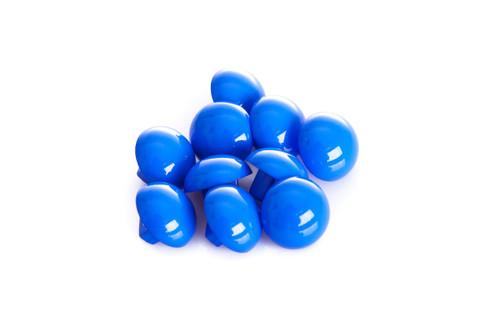 Royal Blue Shiny Half Ball Shanked Button - 11mm
