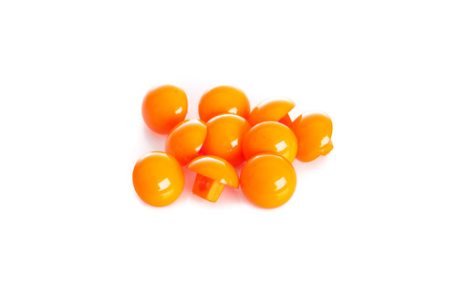 Orange Shiny Half Ball Shanked Button - 11mm