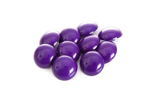Purple Shiny Half Ball Shanked Button - 18mm