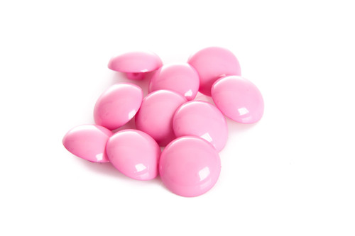 Shocking Pink Shiny Half Ball Shanked Button - 18mm