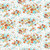 Flower Garden in Orange and Turquoise - Japanese Fabric - Sevenberry Fabric