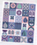 Blooma BOM fabric pack, love patchwork and quilting kit.  Purple Stitches, Hamsphire.