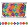 Multi colour daisy chain flowers on a 15 yard card.