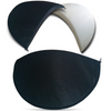 Shoulder pads in white or black in three sizes, small, medium and large.