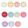 Star button with two hole traditionally used on hand knits, baby and children garments.
