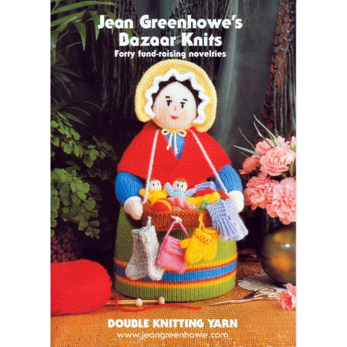Jean Greenhowe Bazaar knits booklet featuring the Pedlar Doll. 40 designs included.