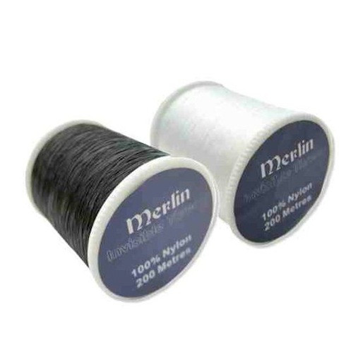 Black and White monofil invisible sewing thread.