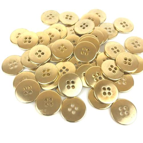Gold Brass Metal Fashion Button 15mm