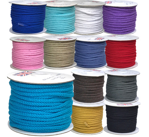 Selection of cotton blend cords in a variety of colours.