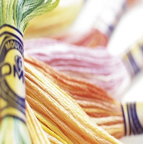 DMC variegated stranded cotton embroidery floss. Six stranded thread for embroidery and needlepoint.