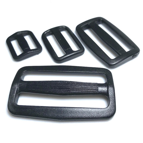 Black heavy duty 3 bar tri slider buckle. Four sizes available.