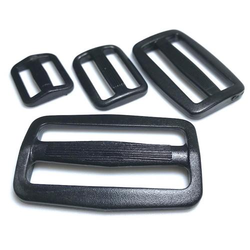Black heavy duty 3 bar tri slider buckle. Four sizes available.