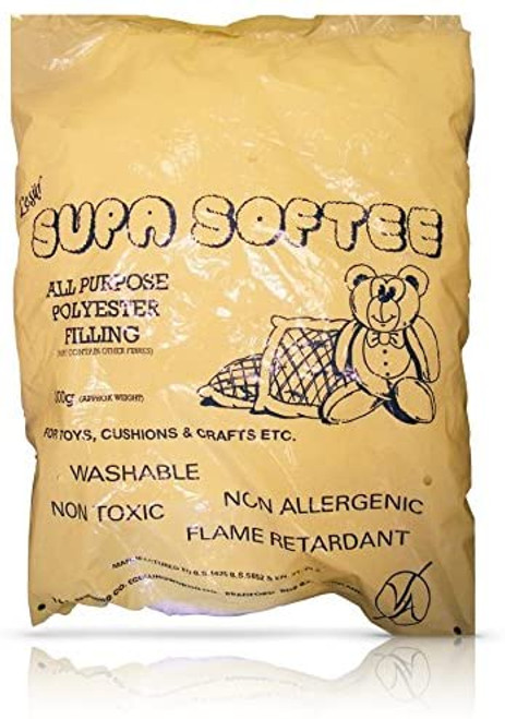 Bag of soft white toy filling / stuffing. 200 gram bag.