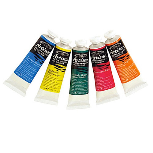 Artisan oil colour water mixable oil tubes.