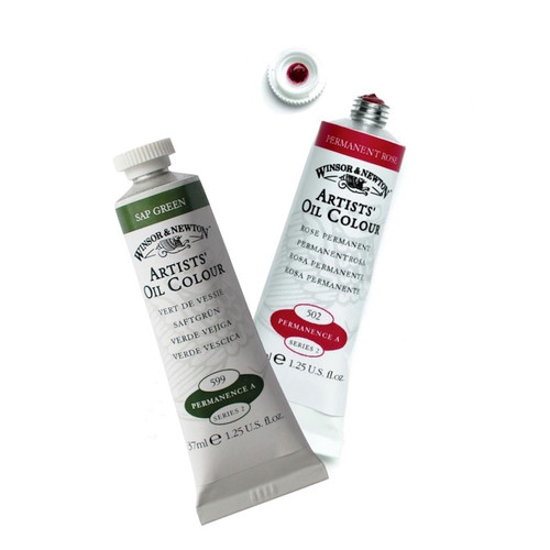Winsor and Newton Artists Oil colour 37ml tubes.