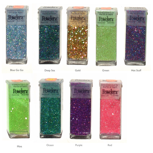 Ultra fine glitter pots in various colours.