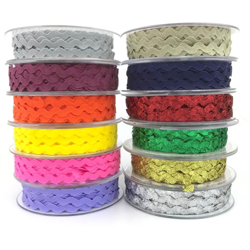 Ric Rac 5mm polyester trimming 20mt roll.